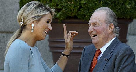 Máxima de Holanda y Don Juan Carlos, en Zarzuela. | Efe