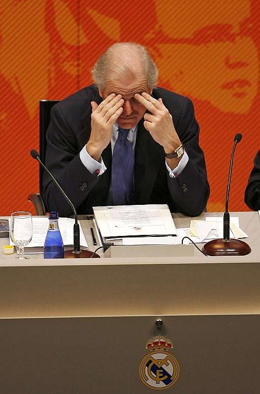 Ramón Calderón, during the Real Madrid AGM