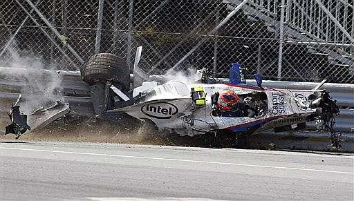 Fotograma del accidente de Robert Kubica