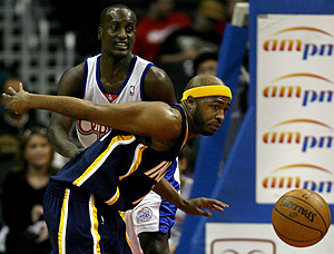 Jamaal Tinsley, en un encuentro ante LA Clippers. (Foto: EFE)