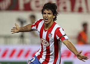 Agüero celebra el 1-0. (Foto: EFE)
