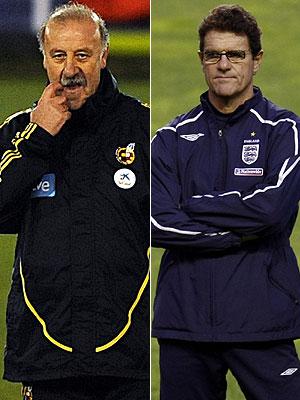Los dos seleccionadores. (AFP y REUTERS)