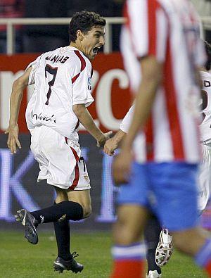 Jesús Navas, tras marcar el gol del triunfo. (EFE)