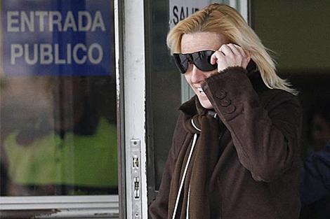 Marta Domínguez, a la salida de los juzgados de Plaza Castilla. | Javier Barbancho