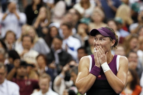 Samantha Stosur, tras proclamarse campeona del US Open. | Ap