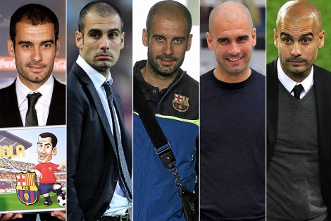 Guardiola en imgenes de 2008, 2009, 2010, 2011 y 2012. | Mundo