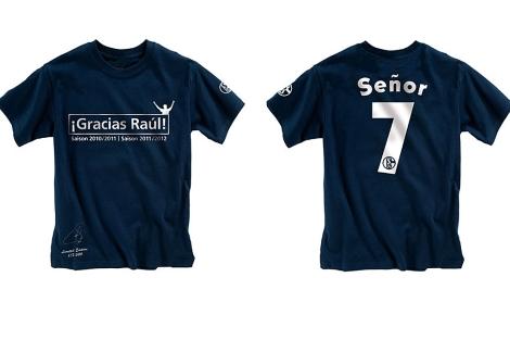 Camiseta para el homenaje a Raúl.