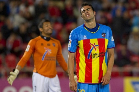 Vicente Iborra se lamenta en Mallorca. | Afp