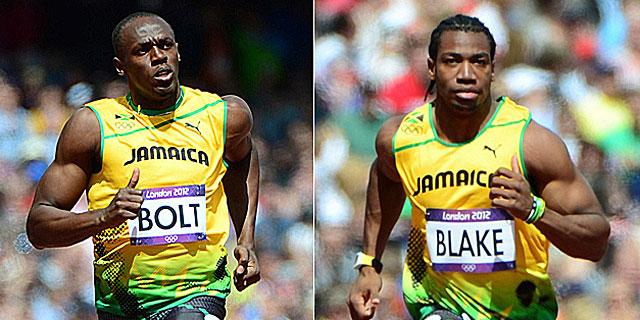 Usain Bolt y Yohan Blake.I Afp