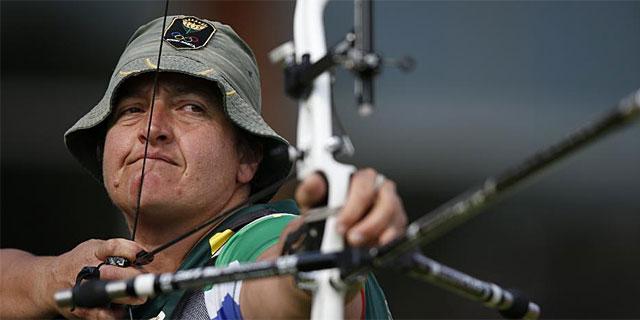 La sudafricana Karen Hultzer, en acción. (AFP)