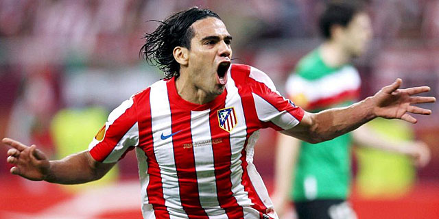 El delantero colombiano del Atltico, Radamel Falcao.I Efe