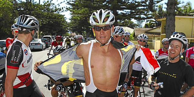 Lance Armstrong, durante el Tour Down Under de 2011. | Afp