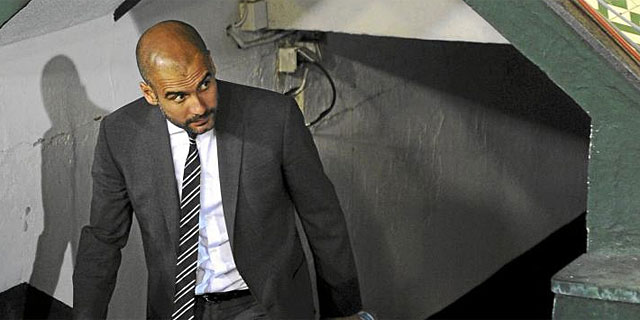 Pep Guardiola, en un partido de la pasada temporada. (EFE)