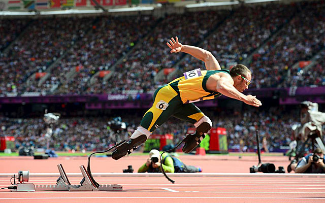 scar Pistorius, en las rondas clasificatorias de Londres 2012. (EFE)