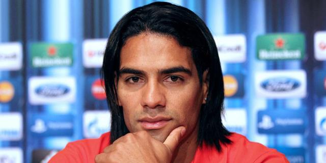 El colombiano durante una de sus últimas ruedas de prensa como jugador del Atlético de Madrid. | Efe