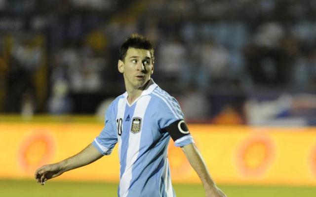 Messi duramte el último partido con su selección contra Guatemala. | AFP