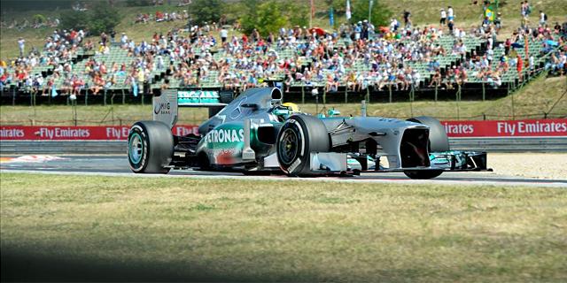 Lewis Hamilton, durante la clasificación de Hungaroring. | AFP