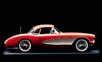 1956. Primer rediseño de la carrocería del Corvette.