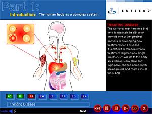 Imagen de la web de la compañía Entelos.