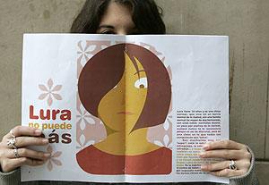 La hija de Encarnación García, presidenta de ACAE, víctima de acoso . (Foto: Eloy Alonso)
