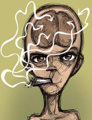 El abuso del cannabis afecta a la memoria. (Ilustración: Elena Águila)