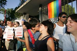 Manifestación gay. (Foto: Carlos Barajas)