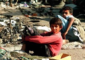 Niños iraquíes en Bagdad. (Foto: AP)