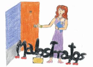 Un dibujo de un niño sobre los malos tratos. (Foto: El Mundo)