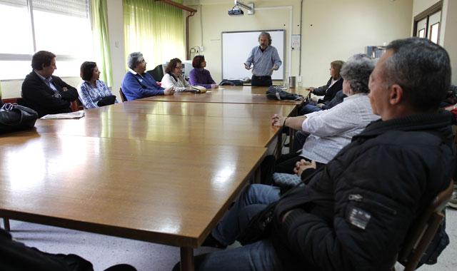 Momento del taller 'Educación afectiva sexual' para personas con discapacidad. | Sergio González