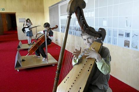 Actividades para niños en el auditorio del Museo de la Música de Barcelona. | Antonio Moreno