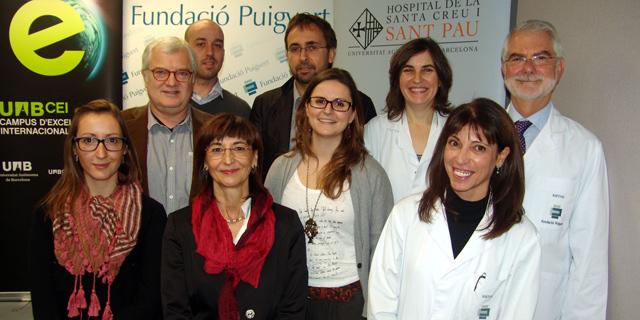 Los responsables del programa de reproducción asistida de Puigvert -Sant Pau tras la rueda de prensa. | F. Puigvert