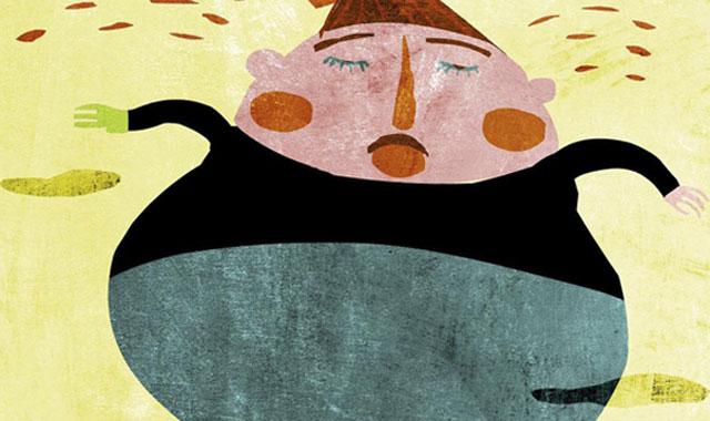 La obesidad en los varones afecta negativamente a la fertilidad. | Ilustración: Raúl Arias
