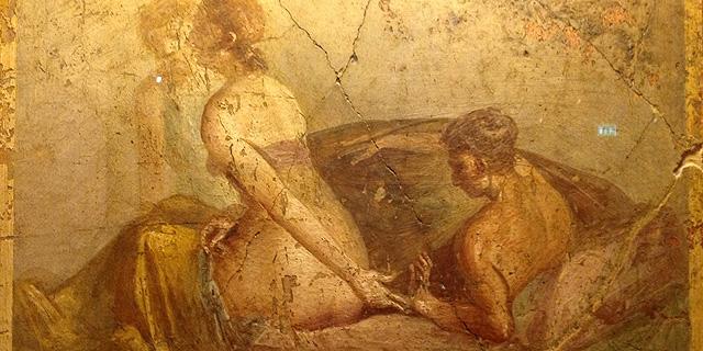 Escena de una exposición sobre sexo en Pompeya.| EM