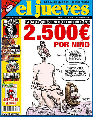 El Jueves magazine with the banned cartoon