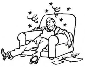 PDibujo de Hergé que ilustraba su carta a los lectores explicándoles su crisis de agotamiento, publicada en el número 16 de la revista 'Tintín', publicada en 1951 durante la realización de la aventura de Tintín en la Luna.