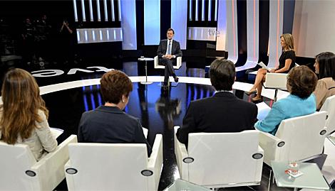 La Entrevista que RTVE le a echo a Rajoy hoy 10/09/2012