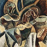 'Tres figuras debajo de un árbol' (1907-1908).