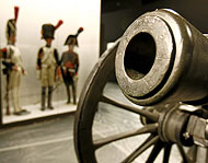 Cañón que forma parte de la exposición 'España, 1808-1814. La Nación en armas'. (Foto: Begoña Rivas).