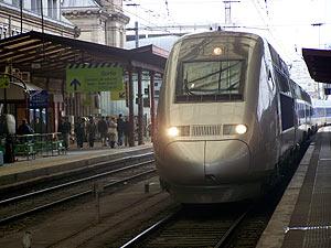 Uno de los nuevos TGV del Este Europeo, en Estrasburgo. Vea más imágenes.(Foto: L.G.)