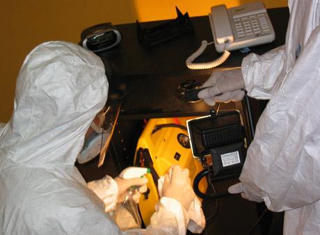Operación de limpieza de un escenario traumático. (Foto: KSK-Limpiezas Traumáticas)