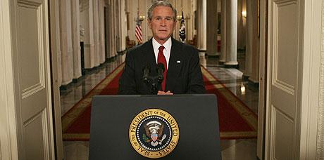 El presidente de EEUU, Geroge W. Bush, durante su intervención. (Foto: AP)