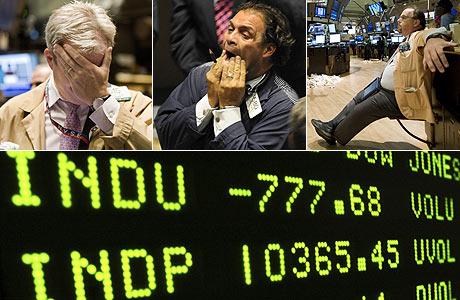Desesperación e impotencia en los 'brokers' de Wall Street . (Fotos: AP | AFP)