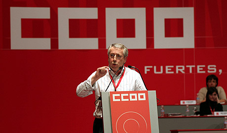 Ignacio Fernández Toxo interviene el Congreso Confederal de CCOO. (Foto: Kike Para)