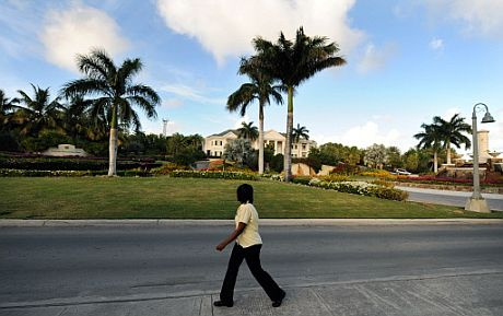 Sede del Banco Internacional Stanford, situada en Antigua. | AFP