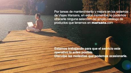 La web de Marsans, caída tras el anuncio de la IATA. | ELMUNDO.es