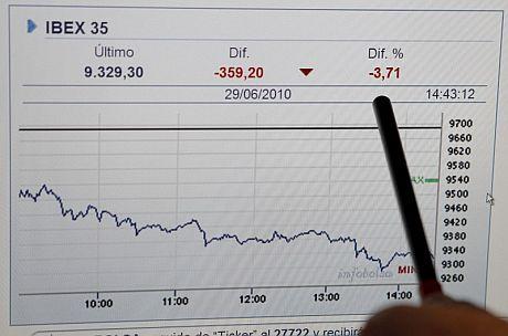 A primera hora de la tarde, la Bolsa aceleró sus caídas. | Efe