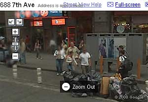 Ejemplo de 'borrado' de cara en Street View. (Pantalla de Google Maps)