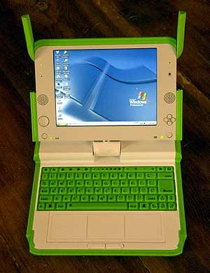 Imagen del portátil XO de OLPC con Windows XP. (Foto: Microsoft)