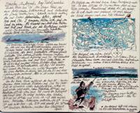 A mano alzada. Rainer Ulrich realizó este cuaderno durante su travesía por el paso del noreste siberiano en 2002.