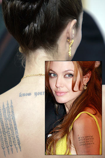 tatuajes de angelina jolie description